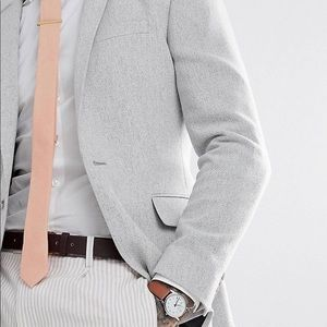 "ASOS super skinny textured blazer: ice grey- 44"" L"
